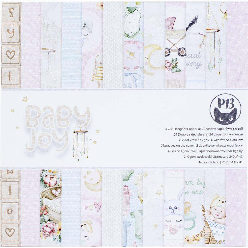 """P13 - Baby Joy - Double-Sided Paper Pad 6""""X6"""
