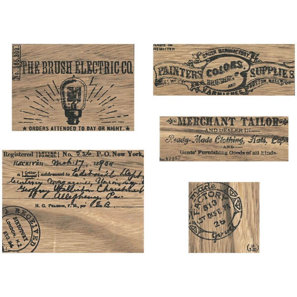 Idea-Ology - Wooden Vignette Panels -  5 pk