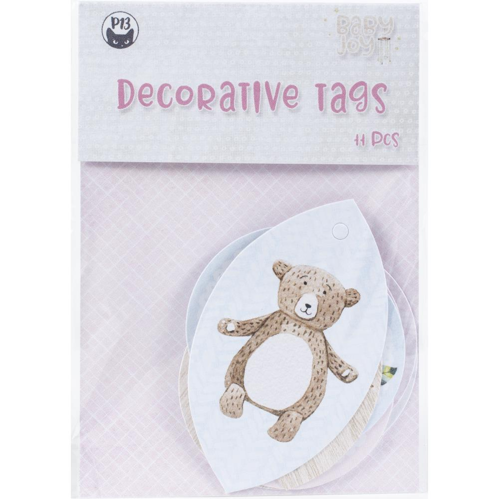 P13 -  Baby Joy - Double-Sided Cardstock Tags 11/Pkg