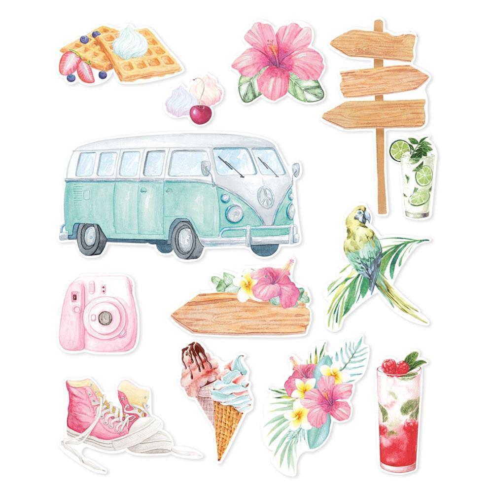 P13 -   Summer Vibes Ephemera Cardstock Die-Cuts 13/Pkg