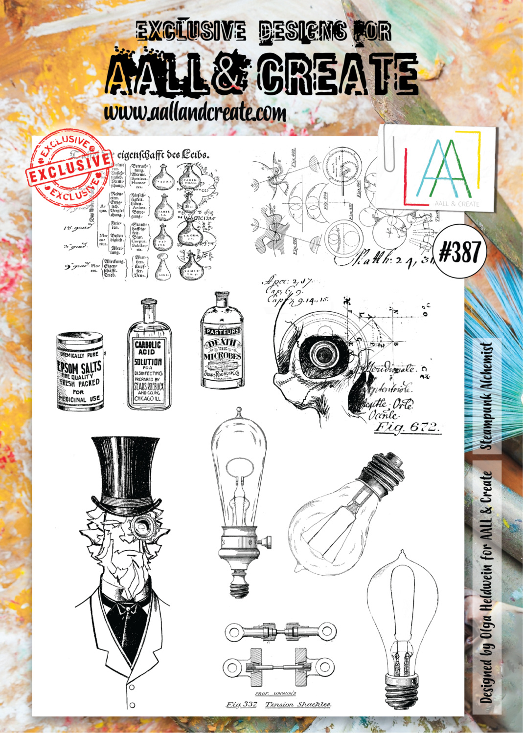 Aall&Create -steampunk-alchemist-387 - A4 STAMPS -