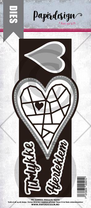 PAPIRDESIGN - Sloimcard hjerte