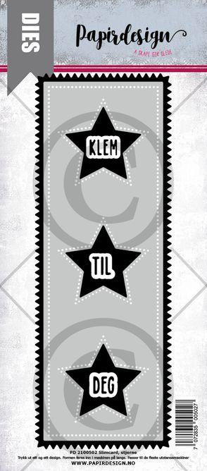 PAPIRDESIGN - Slimcard stjerne