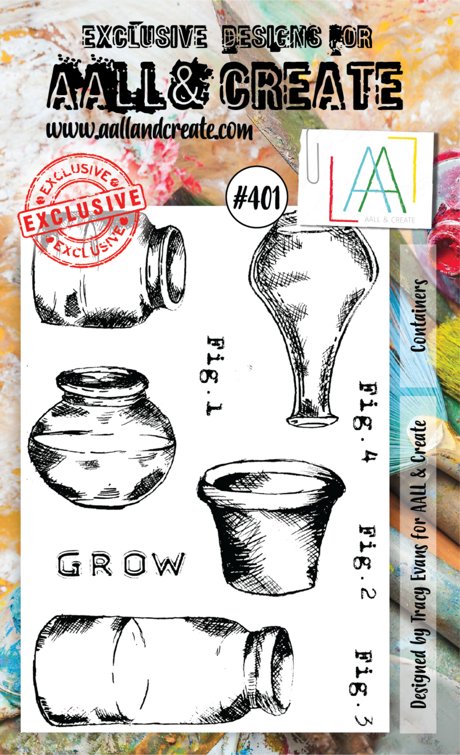 AAll&create - A6 STAMPS - Containers - #401