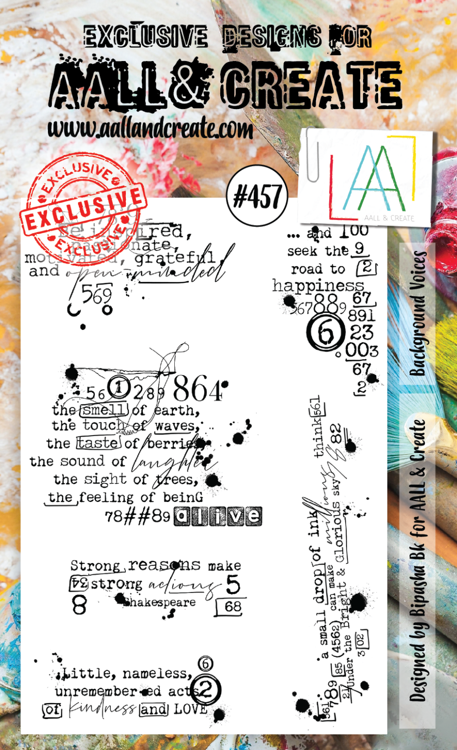 AAll&create - A6 STAMPS  - #457 - Background Voices