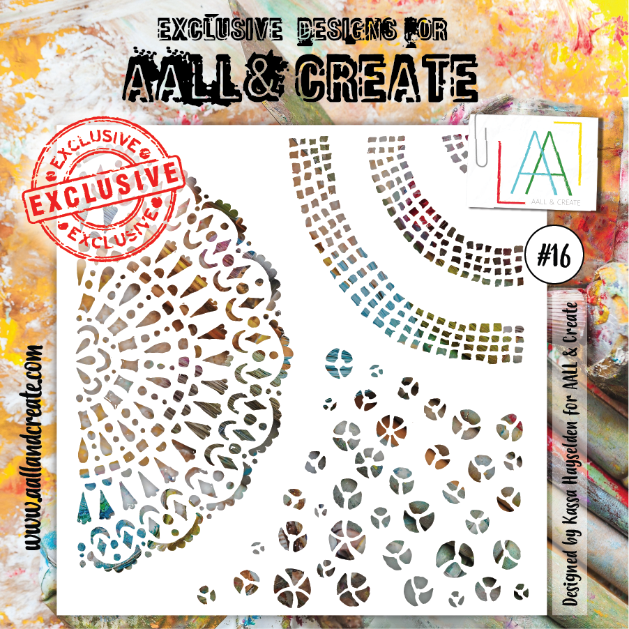 Aall&Create - 6 x 6 stencil  - #16 -