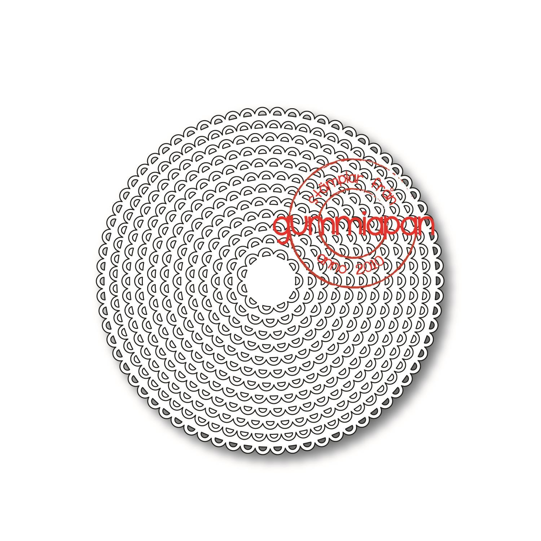 Gummiapan - Open Scalloped Circles Dies