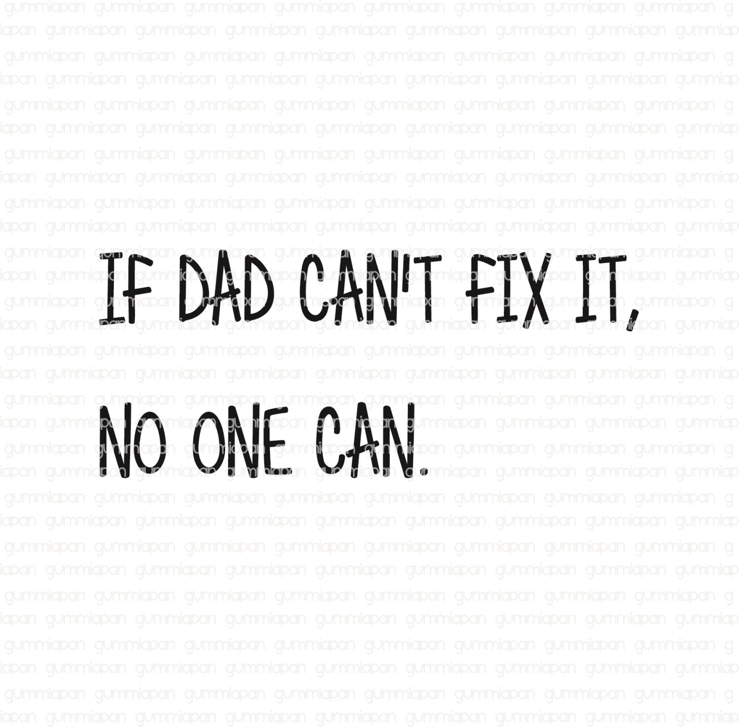 Gummiapan - If Dad can`t fix it, No one can - umontert stempel