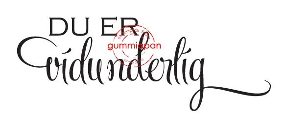 Gummiapan - Du er vidunderlig - umontert stempel