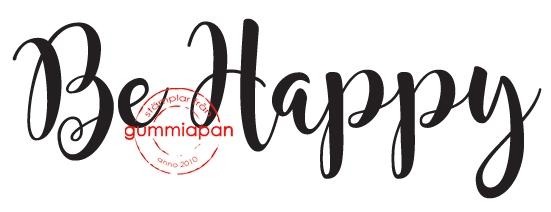 Gummiapan - Be happy - umontert stempel