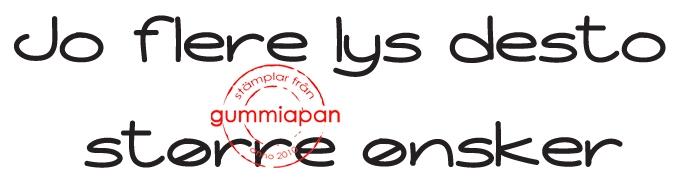 Gummiapan - Jo flere lys desto større ønsker- umontert stempel