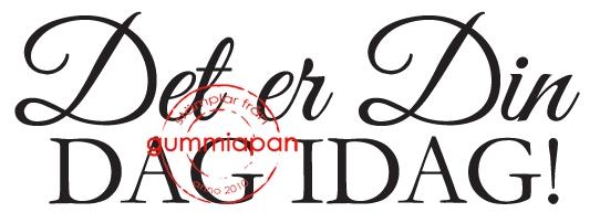 Gummiapan - Det er din dag i dag - umontert stempel