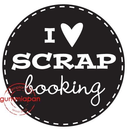 Gummiapan - I love scrapbooking- umontert stempel