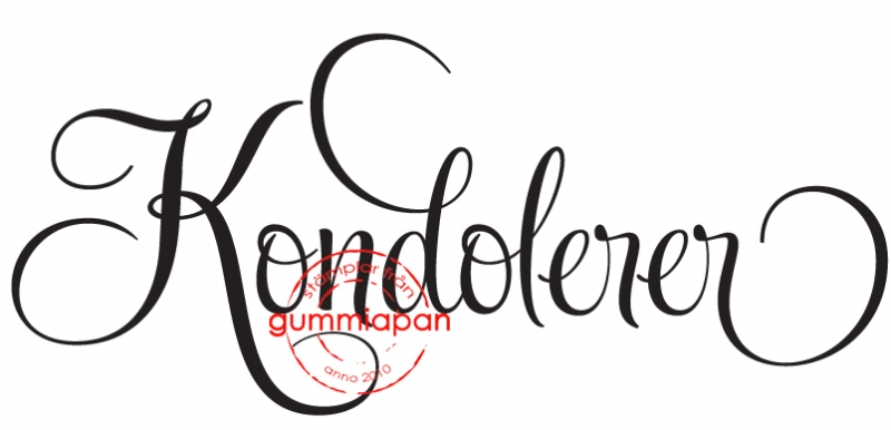 Gummiapan - Kondolerer- umontert stempel