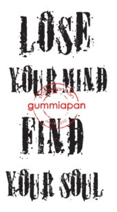 Gummiapan - Lose your mind find your soul- umontert stempel