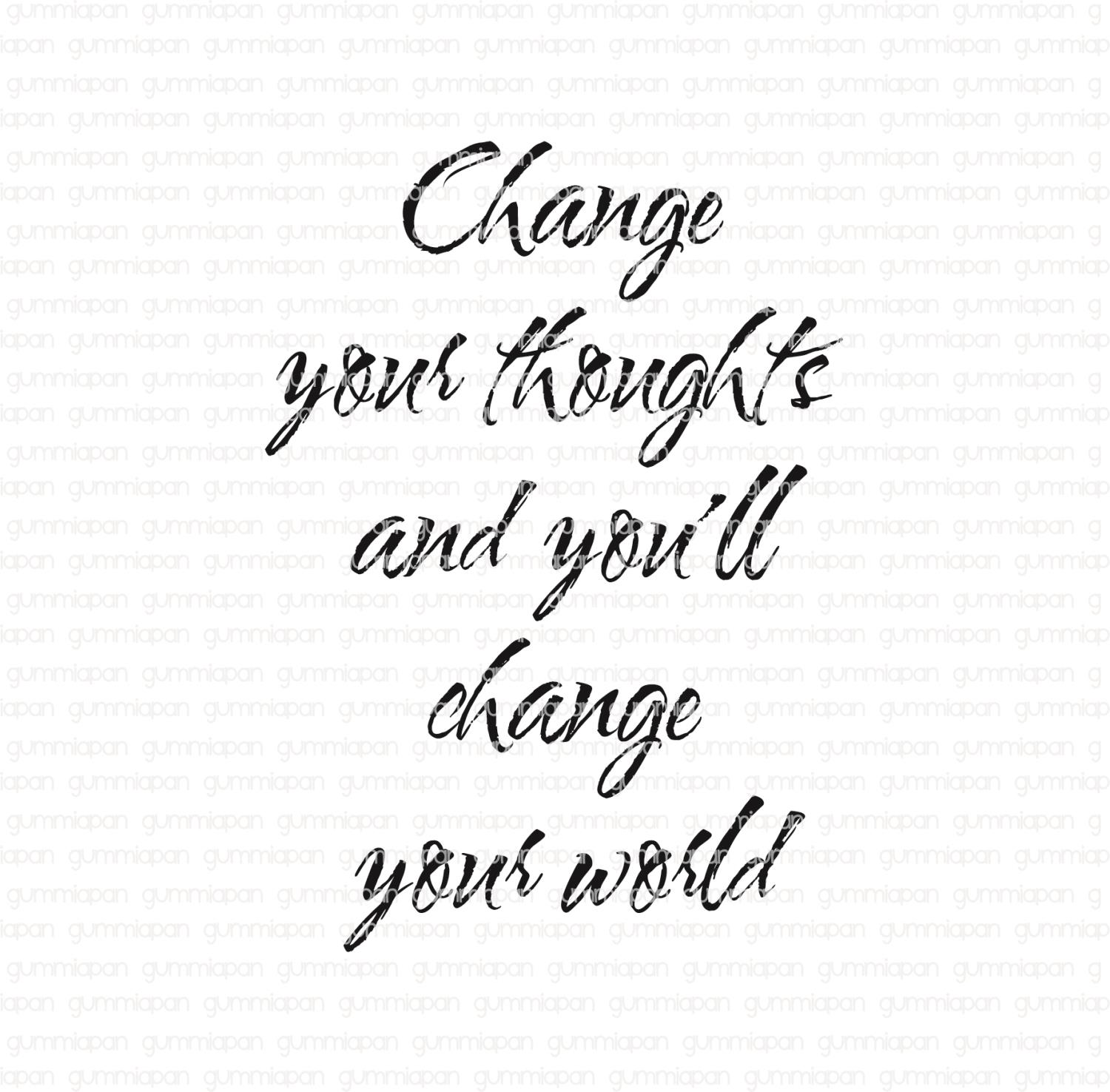 Gummiapan - Change yours thoughts.......- umontert stempel