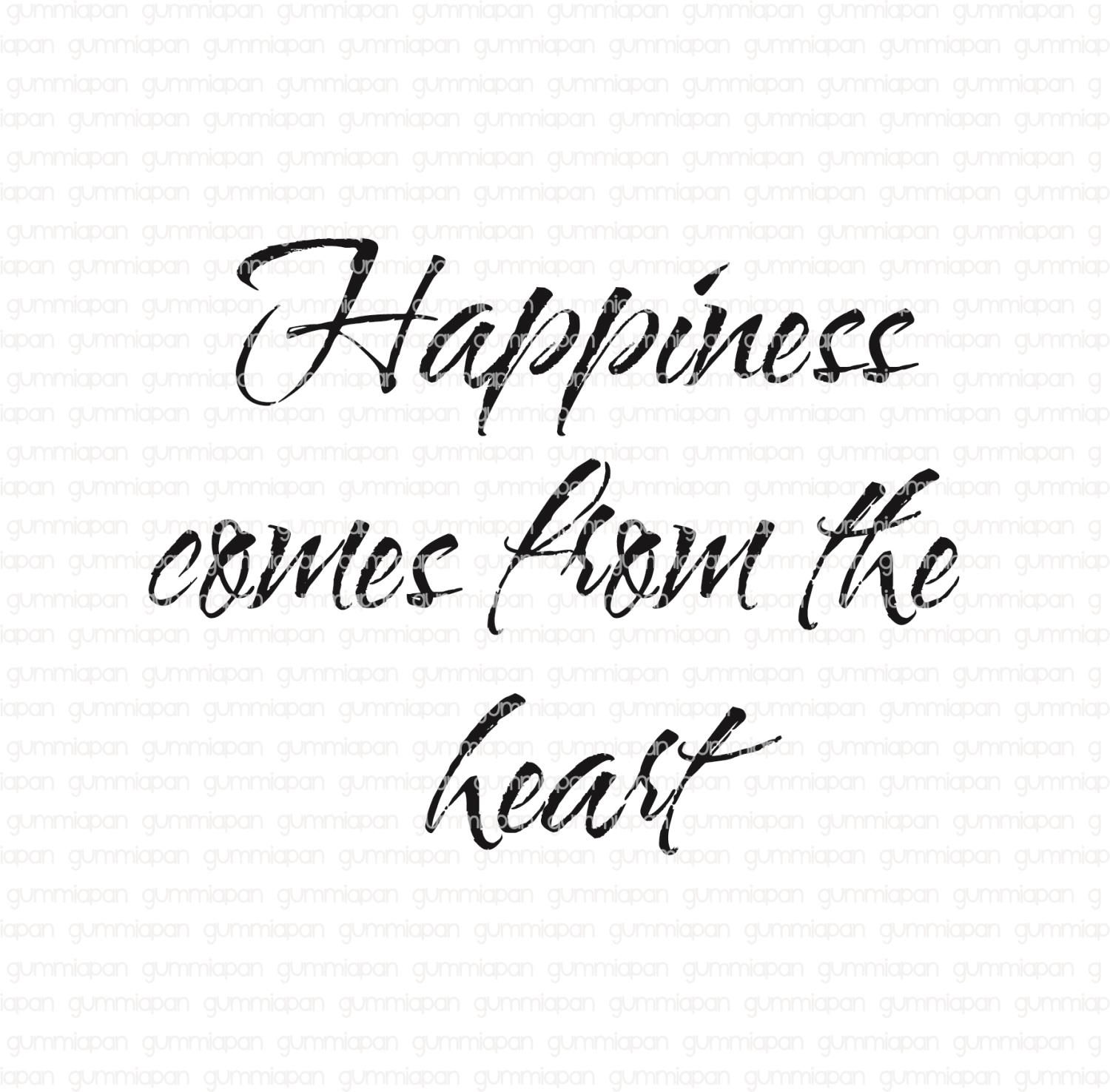 Gummiapan - Happiness comes from the heart - umontert stempel