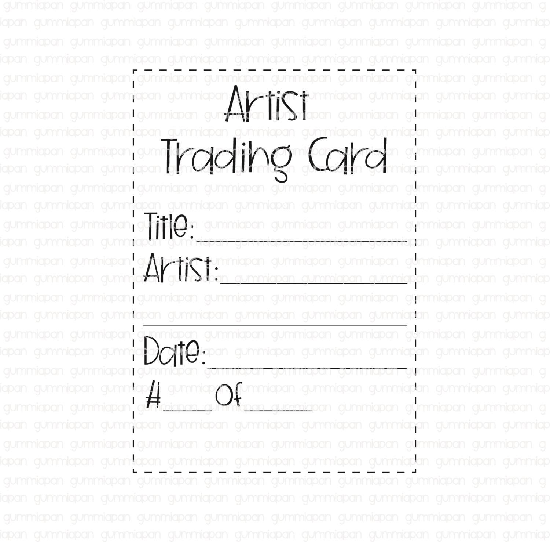 Gummiapan - Artist trading card - ATC - umontert gummistempel