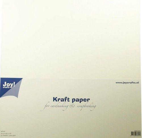 Joy - Kraft Paper - White - 300 gr