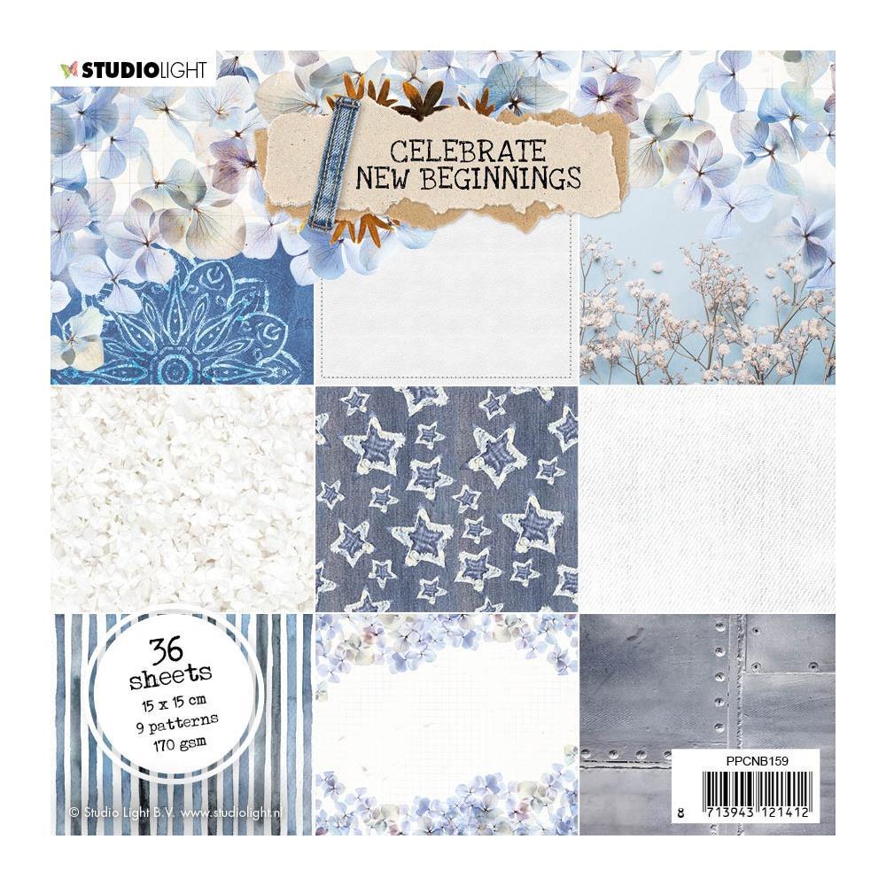 "Studiolight - Celebrate new beginnings - Paper Pad 1 - 6 x 6 """
