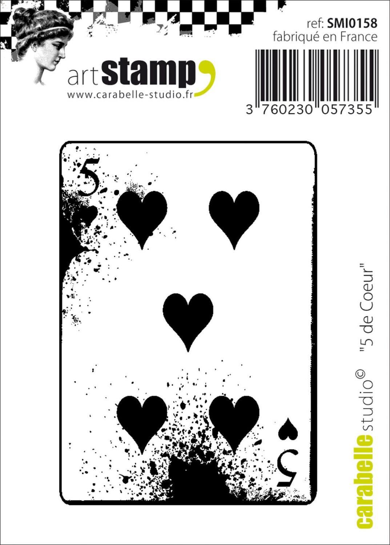 Carabelle Studio • Stamp Mini 5 De Coeurs