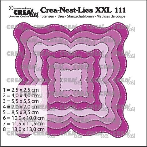 Crealies - Fantasy shape E, with stitchline - no. 111