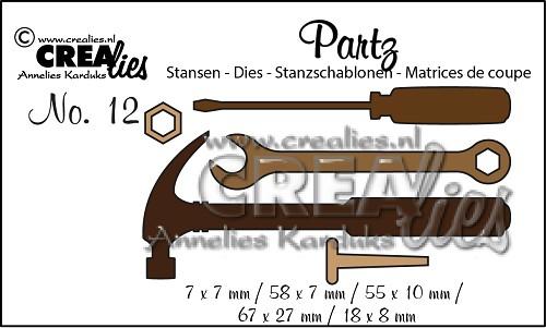 Crealies - Partzz dies no. 12, Tools for men
