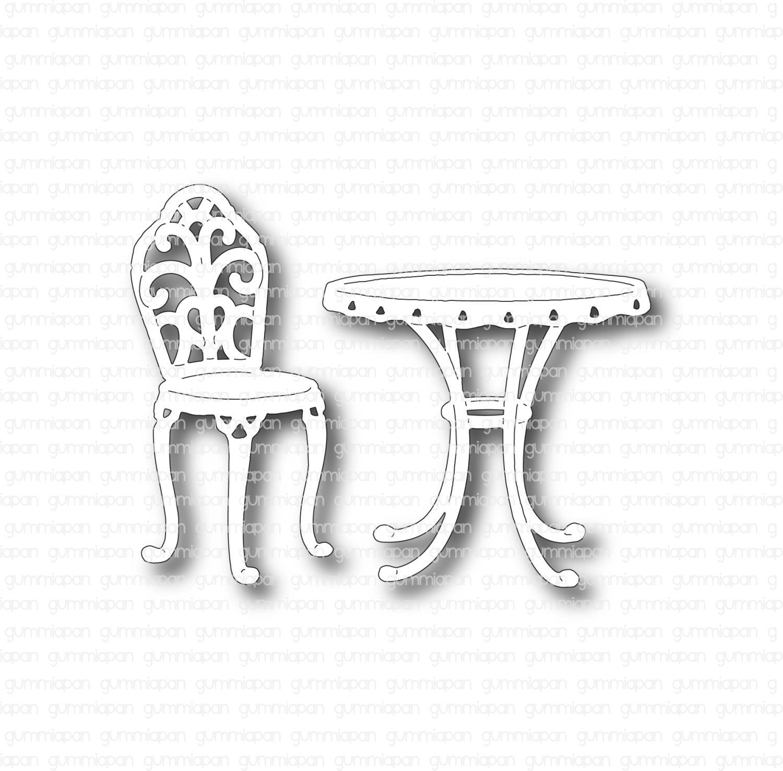 Gummiapan - Bord og stol - Dies