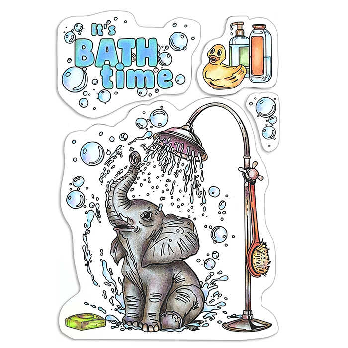 """Ciao Bella -  It´s Bath Time - CLEAR STAMP SET 4""""X6""""  -"""