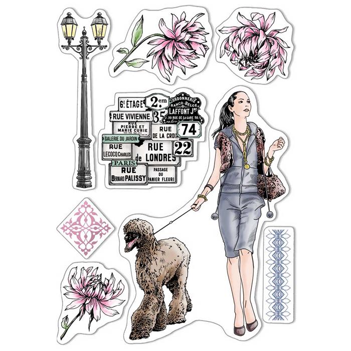 Ciao Bella - Walk in Paris- CLEAR STAMP