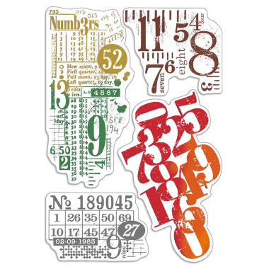 """Ciao Bella - Numbers- CLEAR STAMP SET 4""""X6"""" -"""