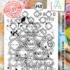 AAll&Create - Scripted Diamonds- #470-  STAMP -