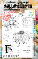 Aall&Create - A5 stempel - Textured Florals - #531