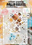 AAll&Create  #119 - A4 STENCIL - Dote On Diamonds