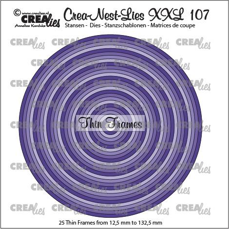 Crea-Nest-Lies XXL dies no. 107, Thin frames, circles