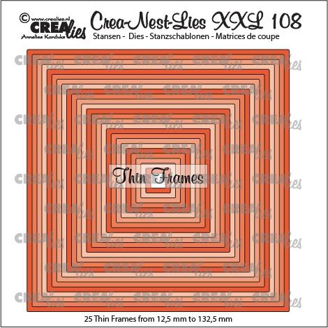 Crea-Nest-Lies XXL dies no. 108, Thin frames, square