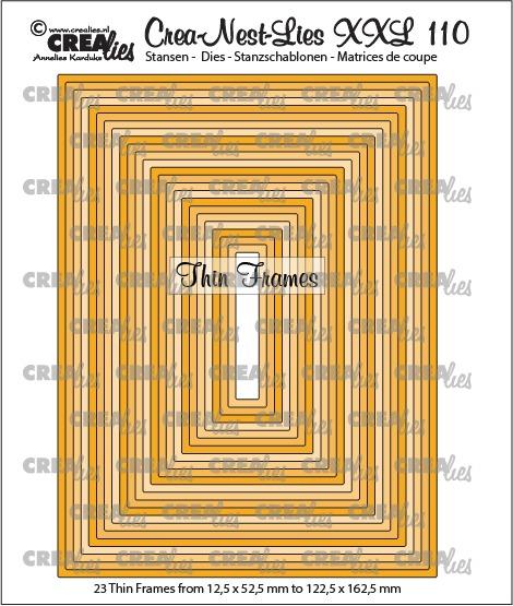 Crea-Nest-Lies XXL dies no. 110, Thin frames, rectangles