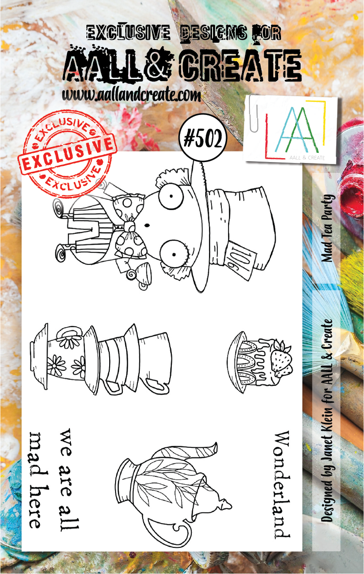 AAll&Create - A7 STAMP - Mad Tea Party - #502
