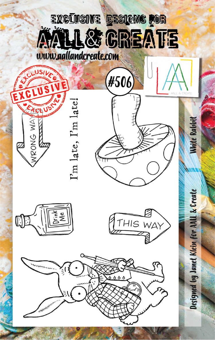 AAll&Create - A7 STAMP - Withe Rabbit - #506