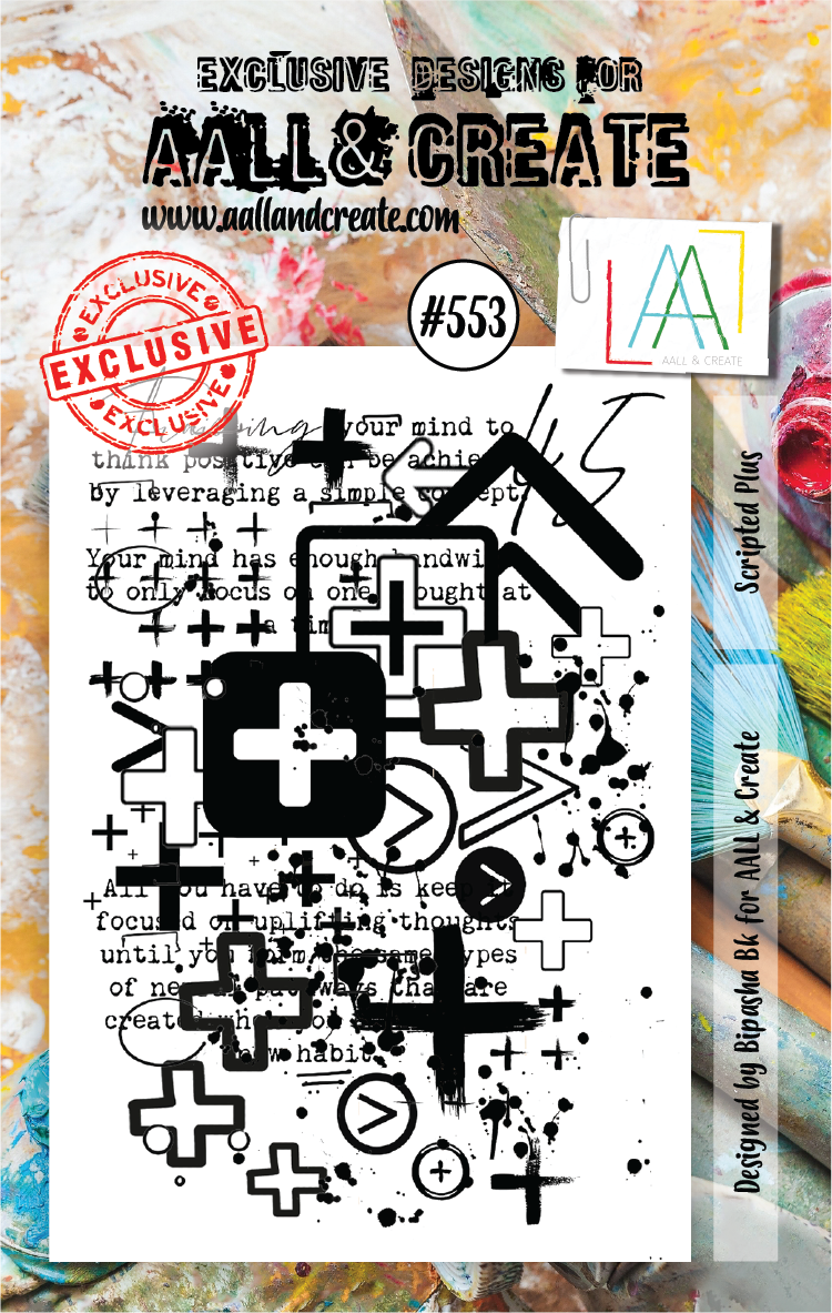 AAll&Create - A7 STAMP - Scripted Plus - #553