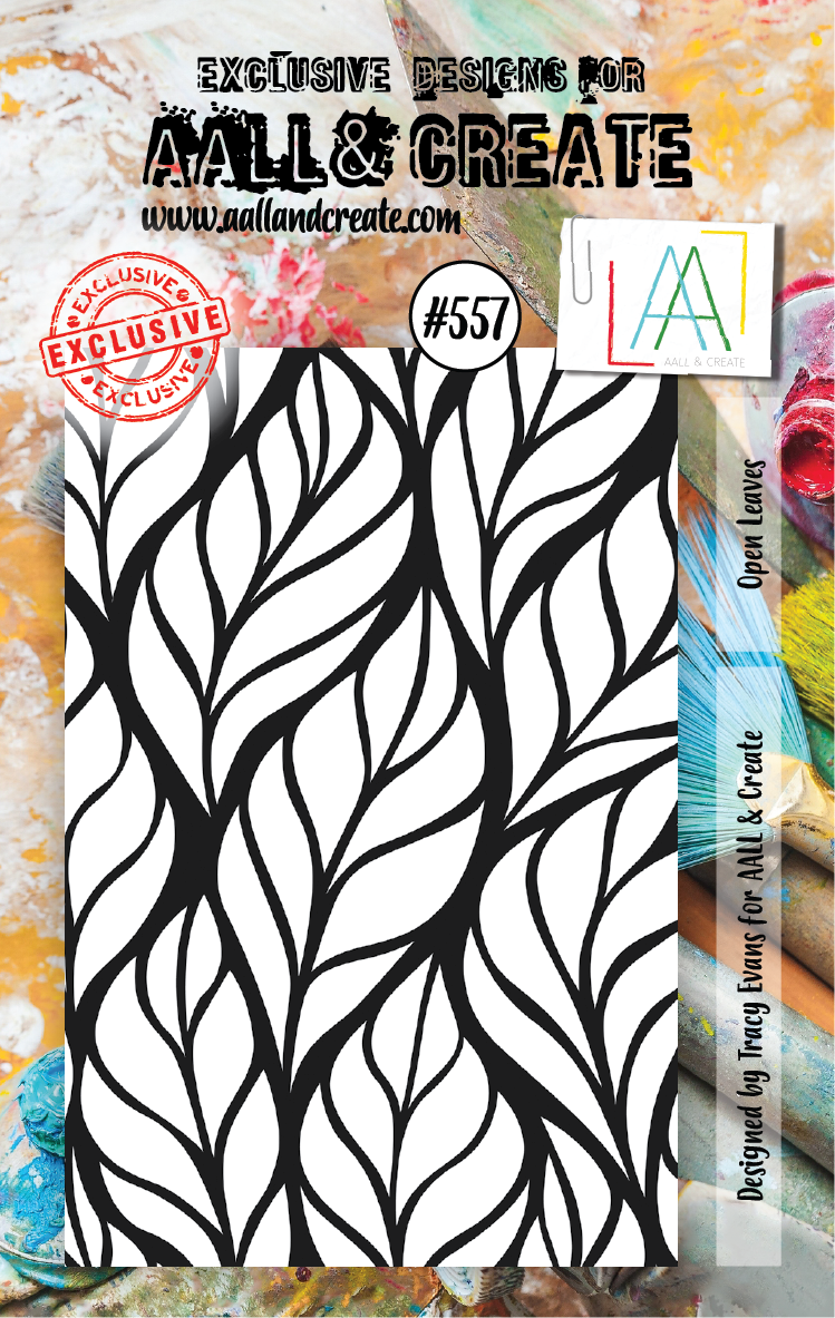 AAll&Create - A7 STAMP - Open Leaves - #557