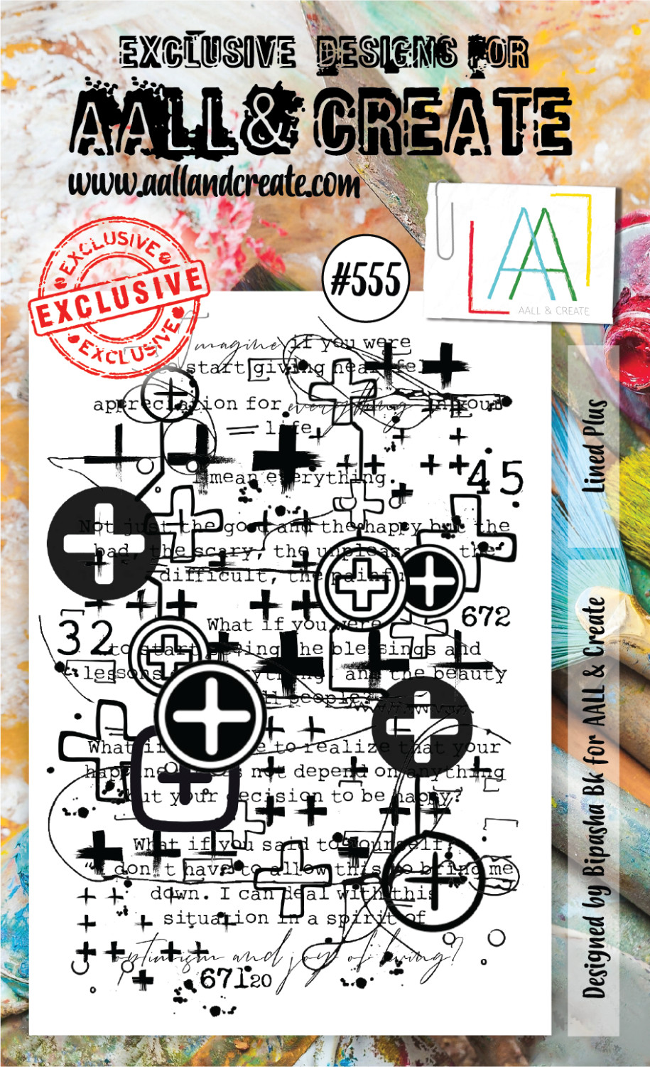 Aall & Create - Lined Plus - #555 - A6 STAMPS