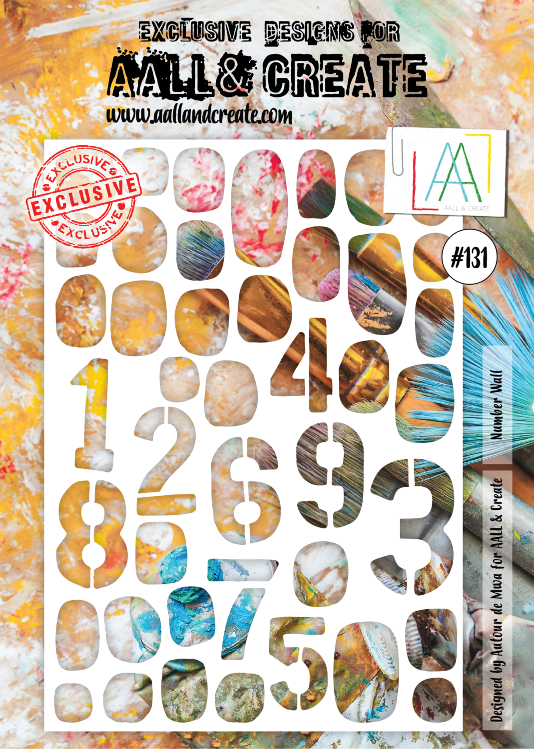 AAll&Create - A4 - #131 - Number Wall