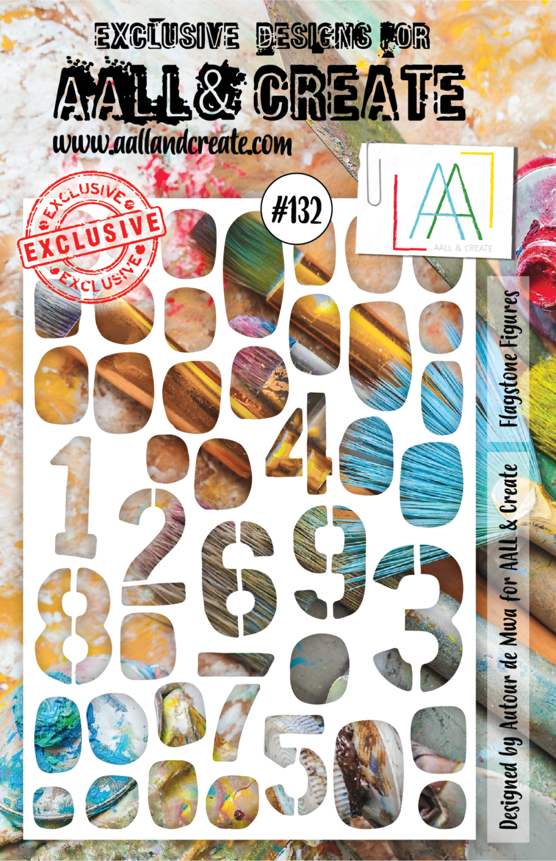 Aall& Create - Flagstone Figures - #132 - A5 STENCIL