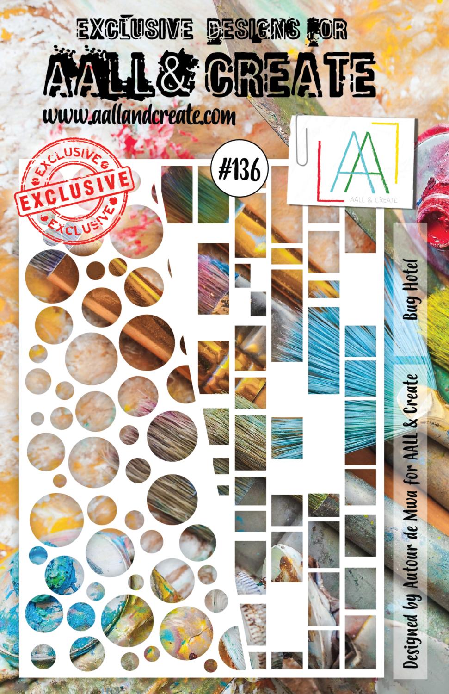 Aall& Create - Bug Hotell - #136 - A5 STENCIL