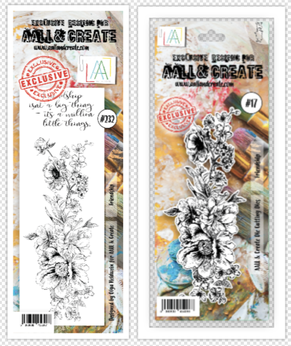 Aall&create - DIES #17 AND STAMP #232 Friendship