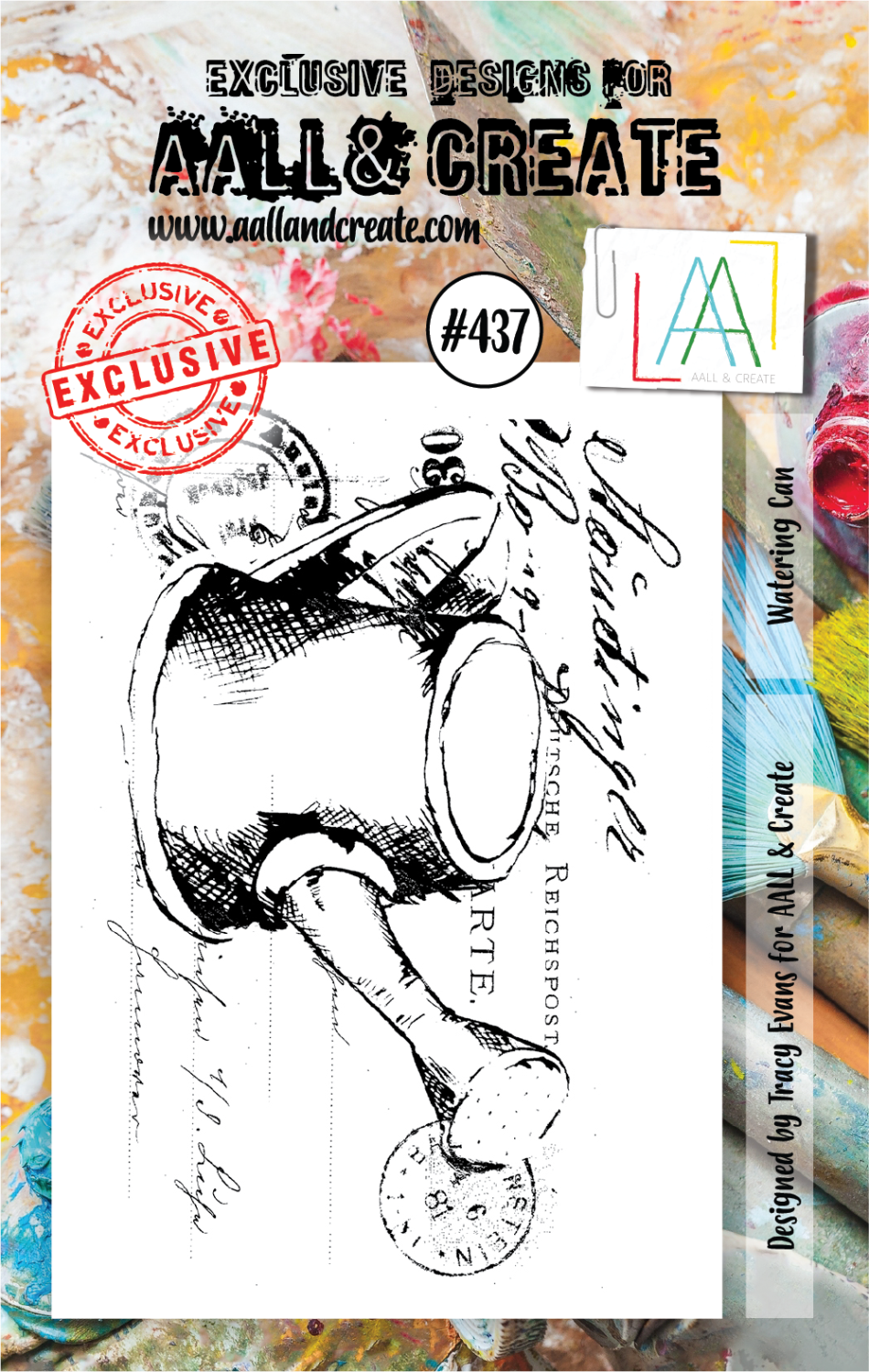 AAll&Create - Watering can - #437-  STAMP -