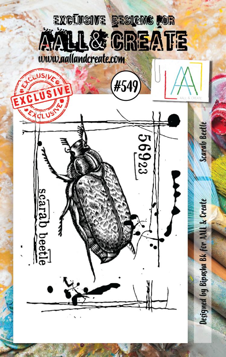 AAll&Create - Scarab Beetle - #549-  STAMP -