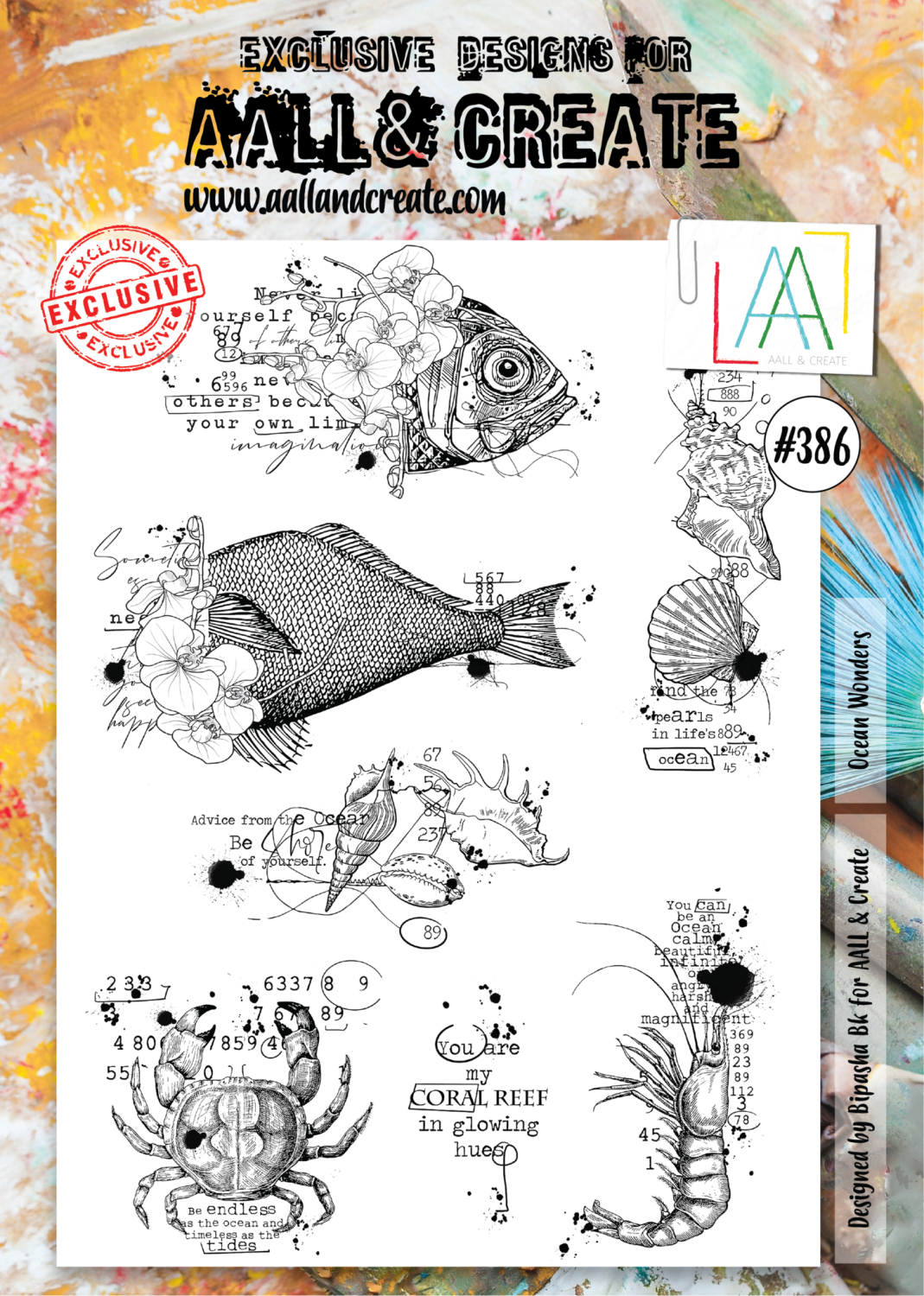 Aall&Create -Osean Wonders -  #386 - A4 STAMPS -