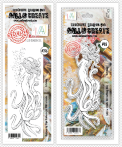 Aall&create - DIES #18 AND STAMP #236 Octolady